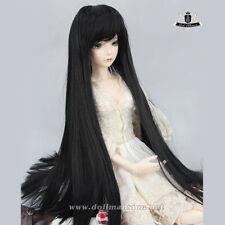 """7-8"""" 1/4 BJD Wig Supper Dollfie Luts EID DZ AOD Dod SOOM WIG MSD Black Hair #117"""