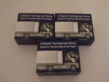 9 Rollos De Impresora tacógrafo digital (3 paquetes de 3 papel de calidad Premium), ambiente PCV