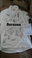 2011-2012 Tottenham Hotspur Spurs Squad Signed Shirt official COA hologram