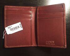 J. Crew Men's Brown Genuine Leather Wallet Card Holder Case (orig. $40) NWT