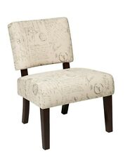 Office Star Jasmine Accent Chair in Script JAS-S13 Chair NEW