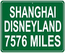 Disneyland Shanghai in China custom mileage sign - distance to your house