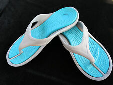 Flip Flops Thongs Gray & Turquoise Sandals Shoes Womens 8
