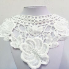 New Lace Embroidered Floral Neckline Neck Collar Trim Clothes Sewing Applique #2