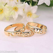 "1PCs Fashion Women Golden Ring with ""Best Friends Forever"" 16mm( 5/8"")Dia"