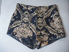 Shorts estampado barroco, negro y dorado, vestir, suiteBlanco