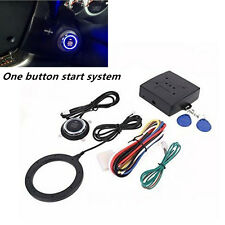 Car Engine Push Start Button RFID Lock Starter Alarm System Keyless Entry 12V