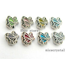 10pcs Butterfly Floating charms For Glass Memory Locket Free shipping FC986