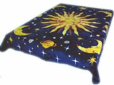 Brand New Sun moon and stars print Queen size Luxury blanket