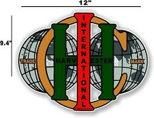 "12"" INTERNATIONAL IH WORLD - HIT AND MISS GAS ENGINE TRACTOR DECAL"