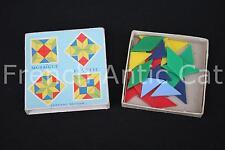 Ancien matériel scolaire vintage MOSAIQUE couleur forme assemblage Nathan AA109