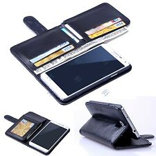 New Card Holder Flip Wallet Leather Case Cover For Samsung Galaxy Note 4
