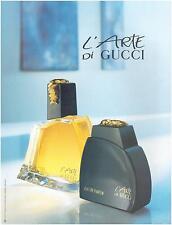 ▬► PUBLICITE ADVERTISING AD Parfum Perfume ARTE Di GUCCI 1991