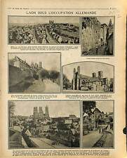 Occupation Deutsches Heer Laon Aisne Porte d'Ardon Artllerie France 1917 WWI