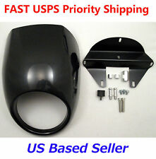 Harley Sportster Dyna Glide FX XL Headlight Fairing Front Cowl Cafe Racer Style