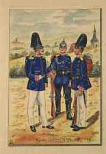 Colorierte Lithographie - Garde Regiment 1880-1900 - Soldaten/Uniform (3)  /S152