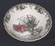 Johnson Brothers FRIENDLY VILLAGE-(MADE IN ENGLAND BACK) Round Vegetable 8 1/4""