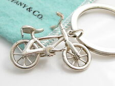 Tiffany & Co Silver RARE Bicycle Keychain Key Chain Ring!