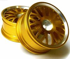 8118A1 1/10 Scale RC Car On Road Touring Wheel Rim Alloy Yellow 10 Spoke x 2