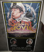 SILENT MOVIE original 1976 large 3-sheet movie poster MEL BROOKS/MARTY FELDMAN