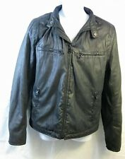 A/X Black Men's Jacket from the Armani Exchange Soft Leather-Like Feel Size M