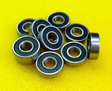 10 PCS - 6800-2RS (10x19x5 mm) Chrome Rubber Ball Bearing Bearings BLACK 6800RS
