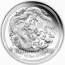 Australia 2012 Year of Dragon Chinese Lunar Zodiac $1 1 Ounce Pure Silver PROOF