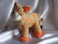 Doudou lion, lionceau, marron clair et orange, Nicotoy