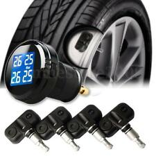 New TPMS Tire Pressure LCD Display Monitoring System Wireless 4 Internal Sensors
