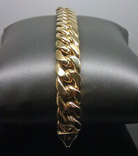 "New Men's 14K Yellow Gold Miami Cuban Bracelet 9"" Long, 37.3 13.5mm, Rope,Link"