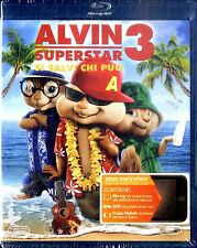 ALVIN SUPERSTAR 3 Si Salvi Chi Può BLU RAY+DVD+Digital Copy NEW SEALED