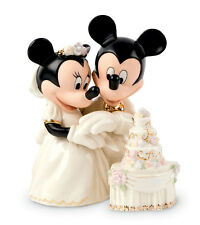 Lenox Disney MINNIE'S DREAM WEDDING CAKE Mickey Figurine Cake Topper New