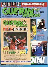 GUERIN SPORTIVO-1997 n.14- C.MALDINI-VIERI-SEBA ROSSI-INSERTO ALL. -CALCIOMONDO