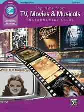 TOP HITS FROM TV,MOVIES & MUSICALS-INSTRUMENTAL SOLOS-TENOR SAX-MUSIC BOOK/CD!!