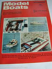 MODEL BOATS SEPT 1976 BILL ISARD GEORGE CLARK WING DING HYDROPLANE TARROO USHTEY