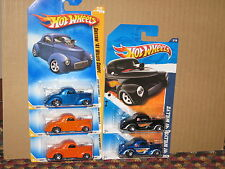 Hot Wheels Lot of 5 1941 Willys 41 Coupe Variation Willys Overland Motors Rare