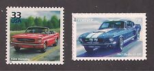 1964 FORD MUSTANG CONVERTIBLE + 1967 SHELBY GT-500 - 2 STAMPS - MINT CONDITION