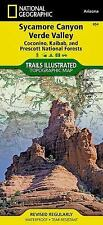National Geographic Trails Illustrated AZ Sycamore Canyon/Verde Valley Map 854