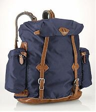 POLO RALPH LAUREN NAVY YOSEMITE NYLON & LEATHER BACKPACK, NWT