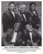 The Drifters promo pic signed by Bill Pinkney Hall Of Fame