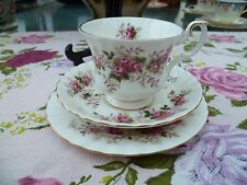 Pretty Vintage Royal Albert China Trio Tea Cup Saucer Plate Lavender  Rose