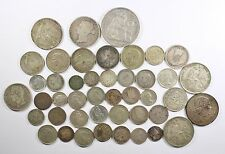 Vintage Silver World Coin Lot of (44) Mixed Silver Foreign Coins 198 grams