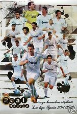 "REAL MADRID FC ""SOCCER 2011-12 LA LIGA, SPAIN"" FOOTBALL POSTER-Ronaldo,Kaka,Xabi"