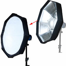 "24""Foldable Beauty Dish Flash Reflector Diffuser Softbox for Bowens Studio Light"