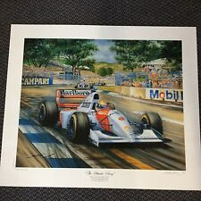 "AYRTON SENNA "" THE ULTIMATE VICTORY"" ARTIST PROOF 1993 PRINT"