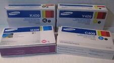 Set of 4 CMYK Samsung Toner Cartridges - CLT-K409S CLT-C409S CLT-Y409S CLT-M409S