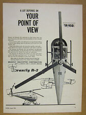 1961 Brantly B-2 B2 Helicopter illustration & photo vintage print Ad