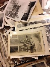 100 Old Photos Lot BW Vintage Photographs Snapshots Black White antique vtg
