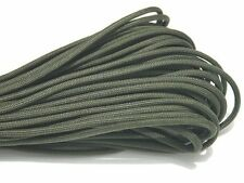 100FT DESERT PARACHUTE PARA CORD 550LB 7 STRAND CORE GREEN NYLON SURVIVAL ROPE