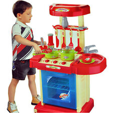 Portable Electronic Children Kids Kitchen Cooking Boy Toy Cooker Set Light Sound